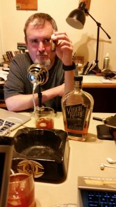 The Gentile enjoying a Virgil Kaine Manhattan smoking a Nub Cameroon