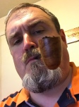 Pipe by Talbert Pipes featuring repurposed wood from the deck of the USS North Carolina)