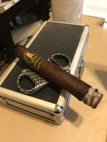 Chris enjoying the Late Hour by Davidoff