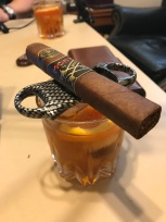 Monte by Monecristo AJ Fernandez and a Ginger-enfused Virgil Kaine Bourbon Old Fashioned