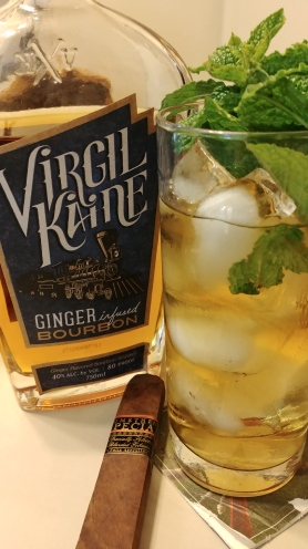 Virgil Kaine Ginger Bourbon Mint Julep with a Felix Assouline's Something Special cigar from Top Leaf Cigar Lounge