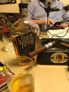 Foundry Cigar's Time Flies pairs nicely with...actually everything pairs nicely with...Virgil Kaine Ginger Bourbon.