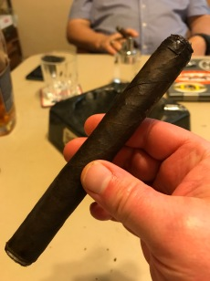 LFD Cabinet 5 (Toro, 6.25 x 52) has a Connecticut Broadleaf Maduro wrapper and a Dominican binder around a filler of Dominican and Nicaraguan tobaccos. Tasting notes include: leather, earth, black pepper, citrus, molasses, coffee, chocolate. Also purchased at Top Leaf Cigar Lounge.